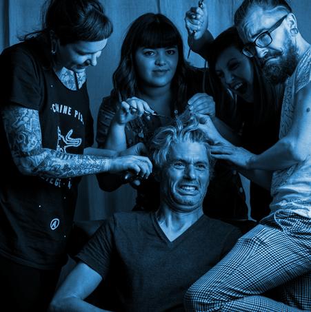 L'équipe de coiffeurs Pop'n Cut