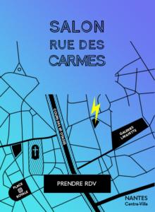 Salon de coiffure rue des Carmes à Nantes